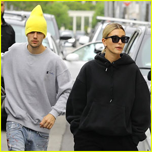 Justin & Hailey Bieber Wear Oversized Sweaters For Beverly Hills Shopping Trip