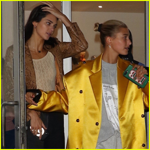 Kendall Jenner Enjoys a Night Out in NYC with Hailey Bieber