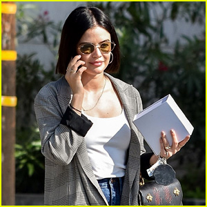 Lucy Hale Runs Errands Ahead of Flight To NYC For CW Upfronts