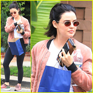 Lucy Hale Hits The Spa After 'Katy Keene' Gets Picked Up To Series