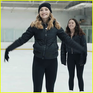 Maddie & Kenzie Ziegler Learn To Ice Skate with Adam Rippon