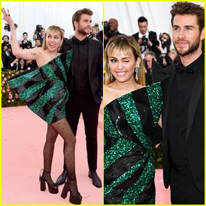 Miley Cyrus Joins Liam Hemsworth at Met Gala 2019!