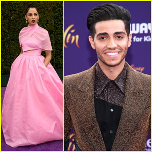 Naomi Scott & Mena Massoud Premiere 'Aladdin' in Hollywood!