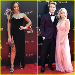Nia Sioux Joins Longtime Couple Lucas Adams & Shelby Wulfert at Daytime Emmy Awards 2019