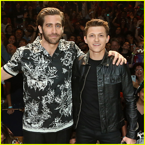 Tom Holland & Jake Gyllenhaal Promote 'Spider-Man: Far From Home' in Mexico