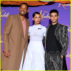 Will Smith, Mena Massoud, & Naomi Scott Premiere 'Aladdin' in Paris