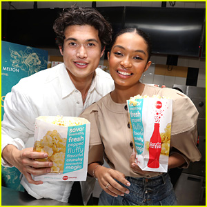 Charles Melton & Yara Shahidi Serve Up Popcorn at Fan Screening For 'The Sun is Also A Star'