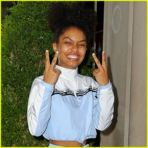Yara Shahidi Arrives Back at Hotel After Business Meetings in NYC