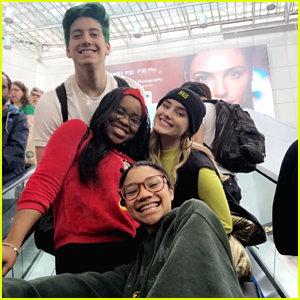Meg Donnelly & Milo Manheim Hang with 'Zombies 2' Co-stars in Toronto
