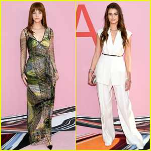Barbara Palvin Joins Fellow Angel Taylor Hill at CFDA Awards!