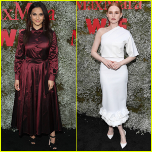 Camila Mendes & Madelaine Petsch Step Out for Face of the Future Event!