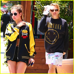 Ashley Benson & Cara Delevingne Take A Workout Class Together