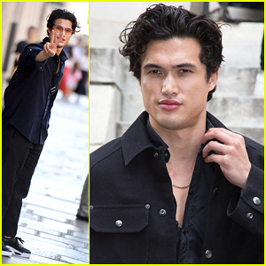 Charles Melton Returns To Paris For Valentino Fashion Show