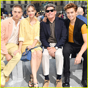 Cole & Dylan Sprouse Bring Dad Matthew To Salvatore Ferragamo Show in Italy