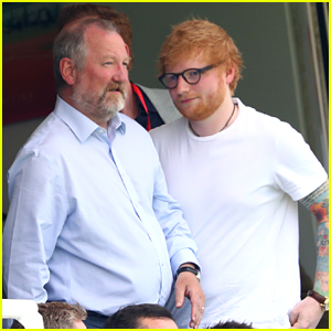 Ed Sheeran Brings Dad John To England & Australia World Cup Game in London
