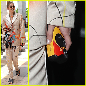 Gigi Hadid Brings Disposable Camera to Heron  Fashion Show in Paris