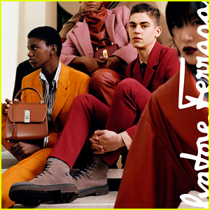 Hero Fiennes-Tiffin Rocks a Red Suit in New Ferragamo Shoot