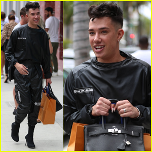 James Charles is All Smiles While Shopping in Beverly Hills