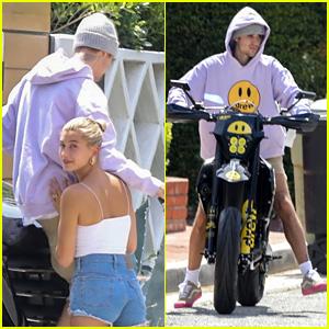 Justin Bieber Gets Brand New Custom Motorbike Delivered To Home