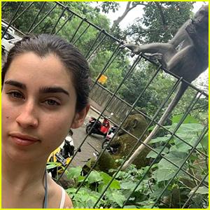 Lauren Jauregui Visits a Monkey Forest in Bali!