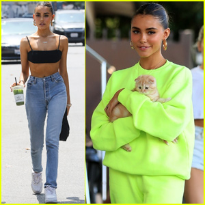 Madison Beer Steps Out With Her Adorable Kitten!