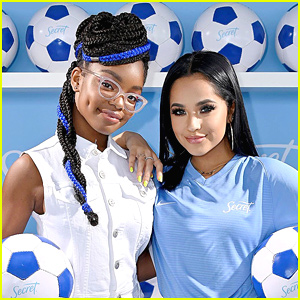 Marsai Martin & Becky G Celebrate U.S. Women's Soccer Win In Paris