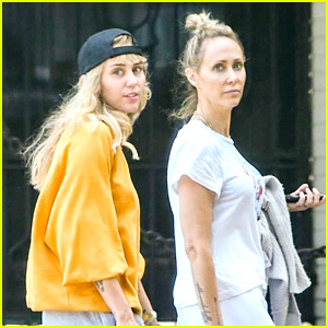 Miley Cyrus Takes A Walk With Mom Tish After Cake Drama on Instagram