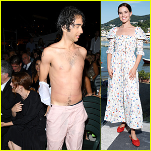 Alex Wolff Took Off His Shirt After Winning at Ischia Film Festival Awards This Weekend!