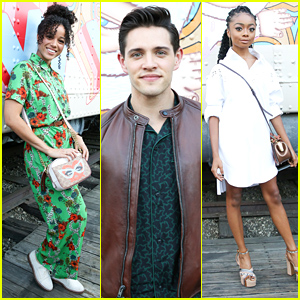 Casey Cott Joins Alisha Wainwright & Skai Jackson at Coach's Pop-Up Celebration Event