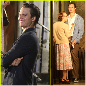 Ansel Elgort Seen Filming Night Scenes For 'West Side Story' in NYC