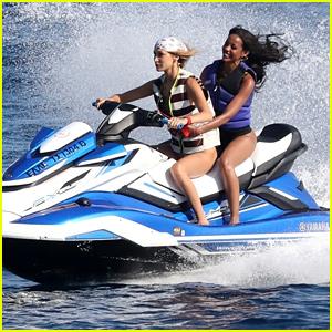 Bella Hadid Drives a Jet Ski During Mykonos Getaway