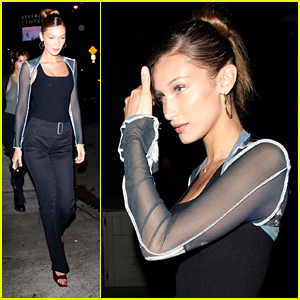 Bella Hadid Steps Out For Stand Up Comedy Show in LA