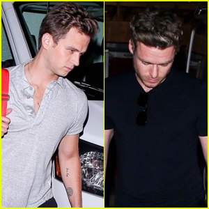 Brandon Flynn Grabs Dinner with Richard Madden in West Hollywood