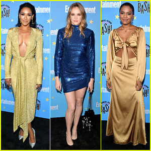 Candice Patton & China McClain Glitter In Gold at EW's Comic-Con Party 2019