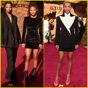 Chloe & Halle Bailey Join Yara Shahidi at 'The Lion King' Premiere!