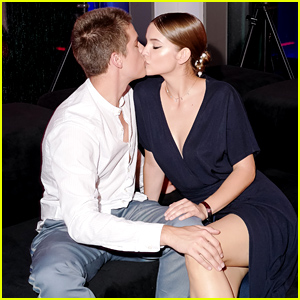 Dylan Sprouse & Barbara Palvin Share a Cute Kiss at BOSS & Porsche's Formula E Party