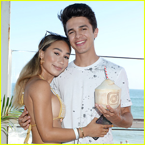 Eva Gutowski & Brent Rivera Couple Up at #InstaBeach!