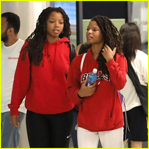 Halle Bailey Goes Casual For Airport Arrival With Family in LA