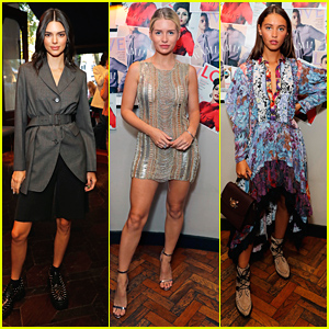 Kendall Jenner Joins Lottie Moss & Iris Law at #MovingLove Magazine Event in London
