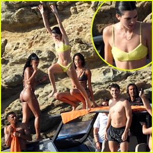Kendall Jenner Jumps Off A Boat in Mykonos!