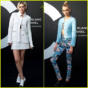 Kristen Stewart Attends Chanel Event in Paris with Stella Maxwell
