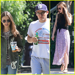 Lily Collins Meets Up With 'Mortal Instruments' Co-Star Kevin Zegers For Coffee