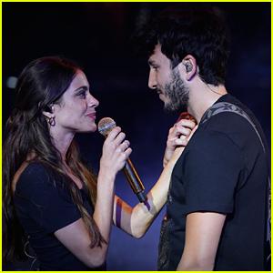 Tini Stoessel & Boyfriend Sebastian Yatra Rehearse For Premios Juventud Awards 2019