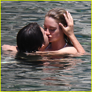 Nat Wolff Takes Swim With Girlfriend Grace Van Patten in Ischia
