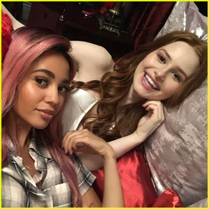 Vanessa Morgan & Madelaine Petsch Spend First Day Back On 'Riverdale' In Bed