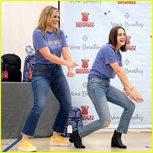 Bailee Madison & Lauren Alaina Help Distribute Backpacks With Blessings In A Backpack