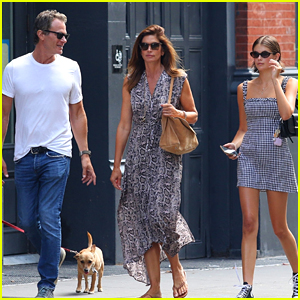 Kaia Gerber Hangs Out with Her Famous Parents in NYC