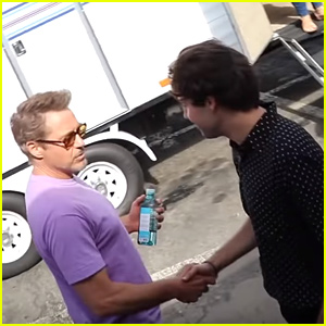David Dobrik Met His 'Favorite Person In The World' Robert Downey Jr at Teen Choice Awards!