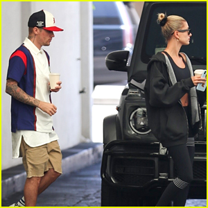 Justin Bieber Grabs Lunch with Hailey to Start Their Week