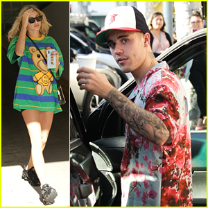 Hailey Bieber Wears Teddy Bear Shirt For Church Service